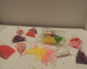 Mini box triangles sugar colors