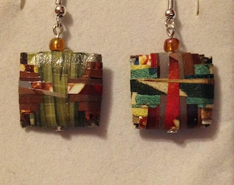 Paper Bead Earrings - Various designs