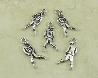 5 TierraCast Zombie Charms > Walking Undead Zombie Apocalypse Dead Tattoo - Silver Plated Lead Free Pewter - I ship Internationally 2382