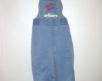 Vintage Denim Overalls- Childrens Overall Pants- Vintage Kids Clothing- Jean Overalls- Toddler Overalls- Retro Childrens Clothes- Boys Pants