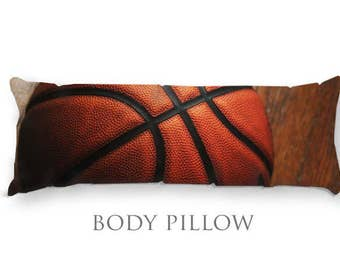Basketball Body Pillow-Fleece Bed Pillow Cover-Sleeping Pillow-Extra Large Pillow-Sports Pillow Cover-Basketball Pillow Cover-Bed Bolster