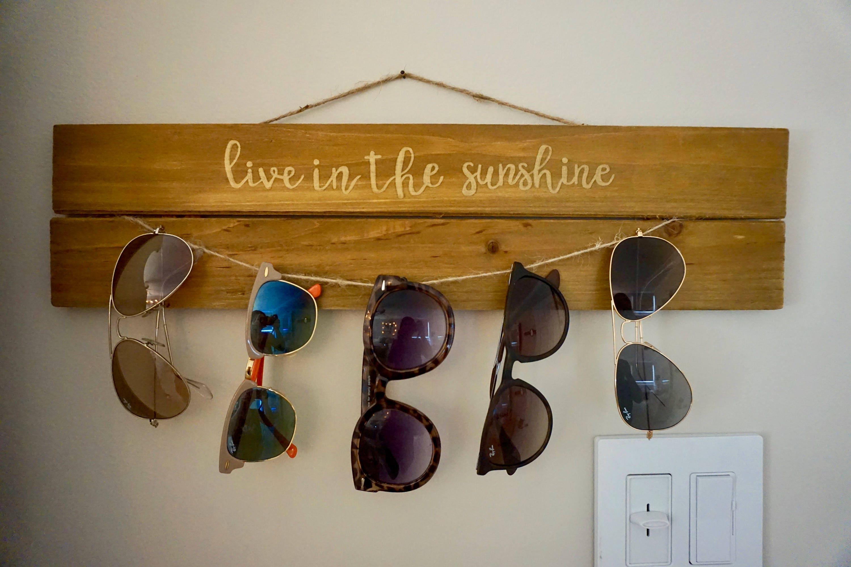 Rustic Sunglass Holder/Wall Display