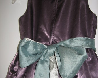 Girl's Party Dress - Ella -  Size 7 to 10 Flower Girl Dress Big Bow Sash Special Occasion Handmade to Order