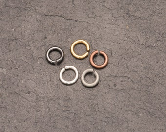 5mm jump rings, open jump ring, black jump rings, copper rings, jewellery making, jewelry design, craft supplies, chain maille, bulk buy