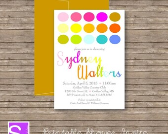 Shower Invite Printable DIY - 5x7 bridal shower baby shower