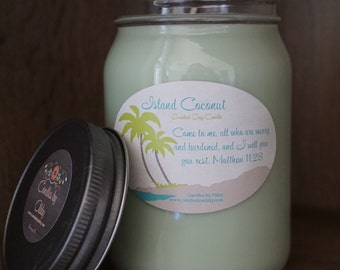 Island Coconut Scented Soy Candle