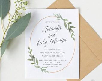 Eucalyptus Frame Baby Shower