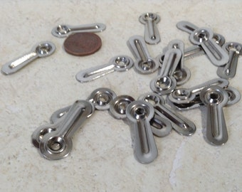 """20 Picture Frame Turn Buttons, 1 1/8"""" Long - no screws, Salvaged Hardware, Restoration Hardware, Jewelry Supply"""