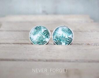 """Earrings """"Tropical leaves""""-16 mm/pair"""