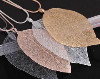 Fall leaf autumn necklace