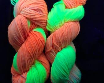 Fluorescent yarn/ yellow and orange