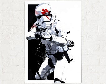 Stormtrooper - Star Wars Art - Finn FN-2187 , The Force Awakens, Star Wars Poster, fan art, Star Wars gift, Star Wars Art Print