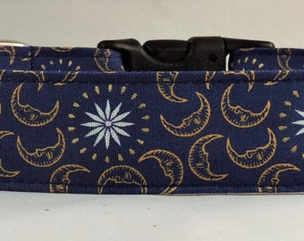 Dog Collar, Martingale Collar, Cat Collar - All Sizes -  Celestial