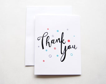 Hand-Lettered Thank You Card   Thank You Card