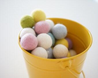 Wool Felt Ball Bulk Pack of 50 - Pretty Pastels