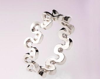 Eternity Ring, Platinum diamond Ring, Diamond Band, Eternity Ring, Platinum Eternity Band, Platinum Eternity Ring, Delicate Band