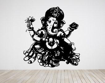 Wall Decal Sticker Indian God Om Elephant Hindu Success Buddha India Ganesha Ganesh Hindu Welfare Bedroom Meditation Yoga Room Decor ZX474