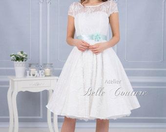 50's wedding dress 'Gill' Rosenstöckchen