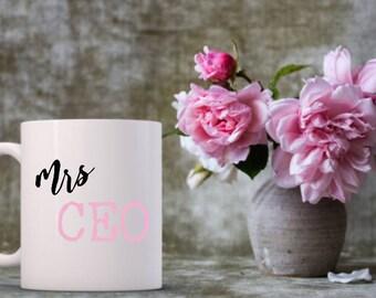 Funny Coffee Mugs   Mrs CEO   Boss Babe   Girl Boss   Boss Lady Mug   Funny Gifts   Entrepreneur