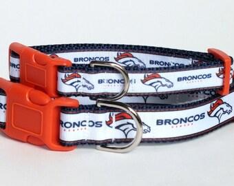 Denver Broncos Dog Collar, broncos