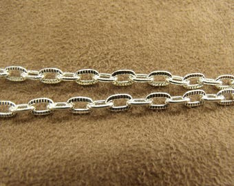 Metal chain streaked 5mm / 3.5 mm - silver