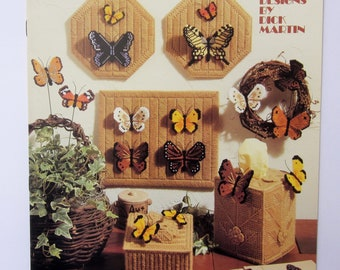 BUTTERFLIES In Plastic Canvas, Pattern Booklet, Leisure Arts, 1987