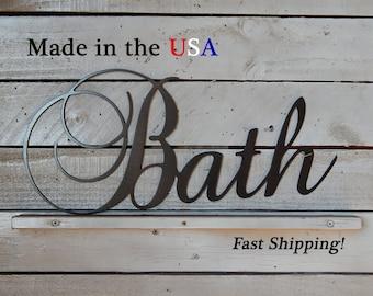 Bath, Bathroom Decor, Restaurant Decor, Indoor/Outdoor Wall Art, House Decor, Metal Sign, Home Signs, Store Signs, W1098