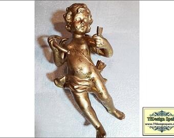Cherubs figurines set, Cherubs wall figurines, Wall decor cherubs, Cherubs figurines sale, Cherub figurines Etsy, Golden cherubs wall decor
