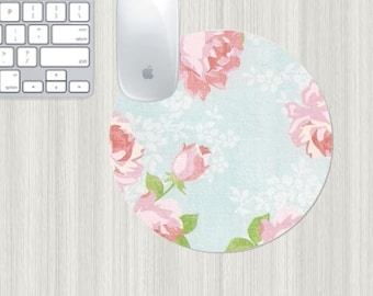 Floral mousepad, boss gift, office gift, office decor, flowers