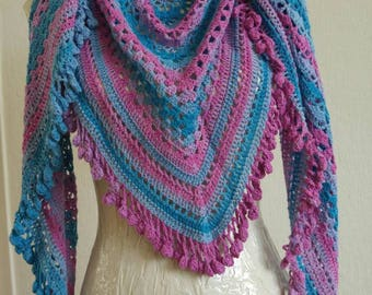 Blue purple shawl