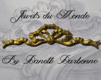 Vintage French Louis XV Quinze Rococo Ornate Ribbon Bow Brass Die Casting 449J