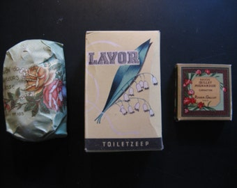 Three old pieces of soap ... c.1950!