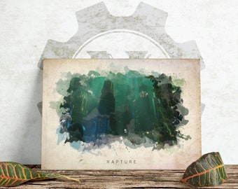 Bioshock - Rapture Abstract Watercolor Poster