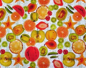 Oilcloth KT811-Motif tropical Fruits