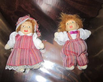 Craft Dolls - Set of two - Male & Female