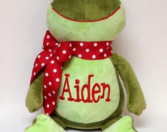 Personalized Frog Stuffed Animal