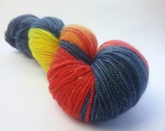 Flames sparkle merino nylon fingering/4ply/sock yarn
