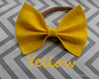 Yellow Felt Bow