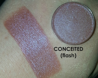 Shade Beauty Pressed Eyeshadow, Conceited, Vegan Makeup, Cruelty Free Makeup, Neutral, Natural, Shimmery Eyeshadow, Metallic, Duochrome