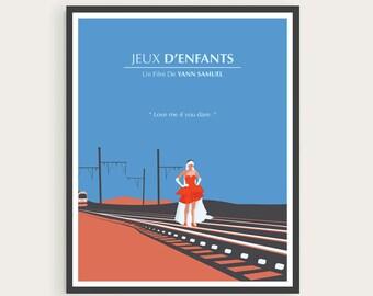 Jeux D'enfants, Love Me If You Dare, Sophie, Marion Cotillard, Minimal Movie Poster.