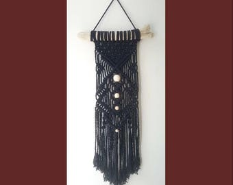 Macrame Wall Hanging on driftwood