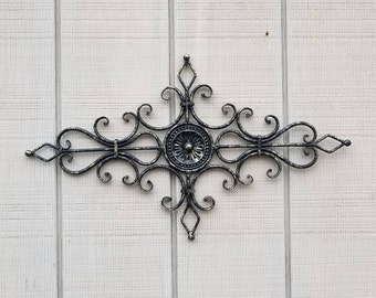Metal Wall Decor, Small Wrought Iron Decor, Medallion Decor, Small Wall  Decor,