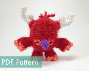The Antlered Meeble Walker Monster Crocheted Amigurumi PDF Pattern