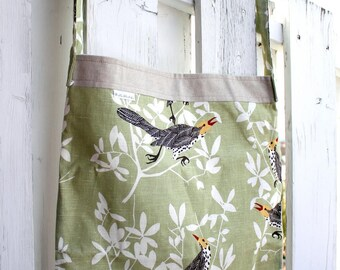 Tote bag with birds, Les Houbeles