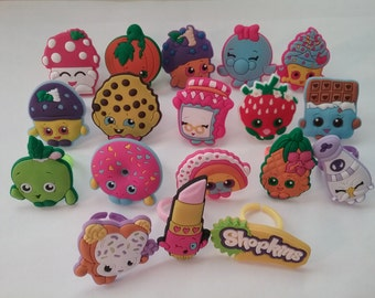 New! Shopkins Rings Party Favors Cupcake Toppers 18 Pieces!