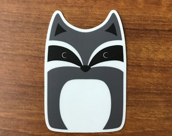 Raccoon Sticker - Animal Laptop Stickers - Die-cut Vinyl Stickers - Cute Animals Waterproof
