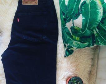 Vintage Levis 501 Black Jeans high Waist