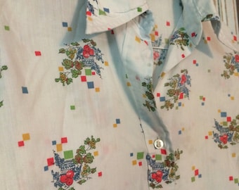 Women's vintage, long sleeve shirt, vintage blouse, vintage clothing