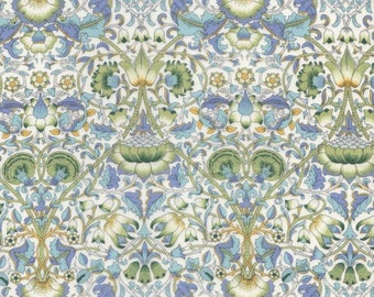 Fabric design Lodden in blue, green, liberty of London'