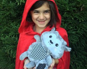 Plush Wolf - Personalized Wolf - Werewolf Plush - Handmade - Stuffed Animal - Softie - Stuffed Wolf - Gift for Kids - Christmas Gift